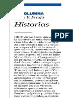 'Historias' - Columna de Jesús Frago (Heraldo de Aragón)