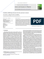 A Hollow Stiffening Structure for Low-pressure Sensors - Kinnell Et Al. - Sensors and Actuators, A Physical - 2010