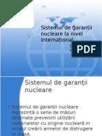 Sistemul de Garantii Nucleare La Nivel International