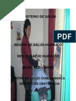 CENTRO DE SALUD CONCHAMARCA  SERVICIO DE OBSTETRICIA