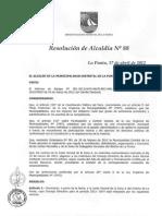 R.A Nº 088-2012