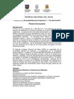 II CONGRESO NACIONAL DEL AGUA- 1ra Convocatoria.doc