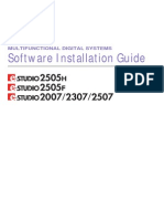 toshiba e studio Installation Guide English