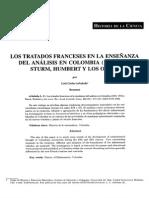 Arboleda, L. (2008). Los Tratados Franceses en La Enseñanza Del Análisis en Colombia (1851-1951)