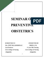 Seminar on Preventive Obstetrics