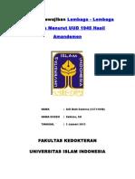 Lembaga Negara Menurut UUD 1945 Hasil Amandemen