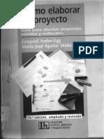 Como Elaborar Un Proyecto - Guia Para Diseñar Proyectos Sociale