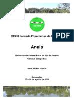 Anais Da XXXIII Jornada Fluminense de Botânica - Rural