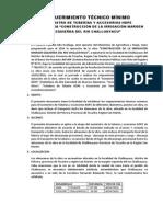 Requerimiento Tecnico Minimo Tubería HDPE - Challuayacu
