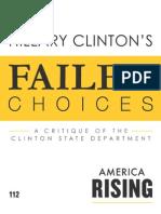 Hillary Clinton's Failed Choices