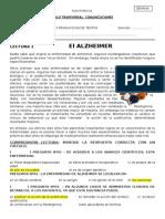 Comprension Lectora - El Alzeimer