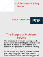 Problem Solving Stages