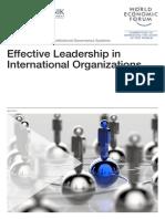 Effective Leadership International Organizations Report
