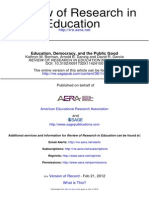 Borman Et Al 2012 Education, Democracy & the Public Good