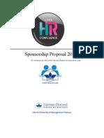 Sponsorship Proposal 2015