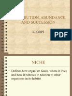 Distribution, Abundance and Succession