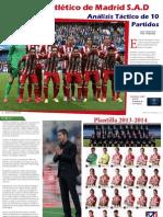 Club Atletico de Madrid Sadanalisis Tactico de 10 Partidos (1)