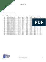 Metrics Shape Table