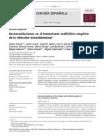 ATB. Recomendaciones en El Tratamiento Antibiotico Empırico