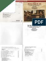 Bach Magnificat Booklet