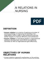 Human Relations in Nursing