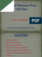 Minimum Phase FIR Filter