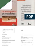 La Investigación en Psicoanálisis