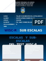 WISC R Subescalas