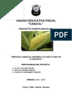 Proyecto Huerto Escolar 2014