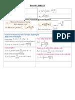 Mom Formula Sheet