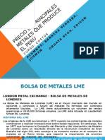 Precio de Principales Metales