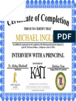 interview with a principal certificate