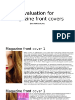 Evaluation for Magazine Front Covers