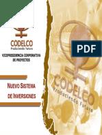 Nuevo sistema de inversiones de codelco