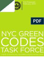 GREEN CODES TASKFORCE REPORT - February 2010
