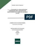 DE LA FILOSOFÍA AL PSICOANÁLISIS.  ITINERARIO DEL CONCEPTO DE  REPETICIÓN EN LA OBRA DE JACQUES  LACAN