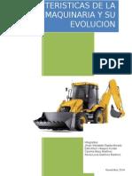 Caracteristicas de La Maquinaria y Su Evolucion Portada