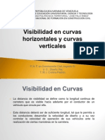 Visibilidad en Curvas Horizontales y Curvas Verticales
