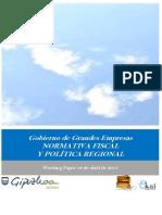 Gobierno de Grandes Empresas. NORMATIVA FISCAL Y POLITICA REGIONAL