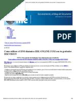 Como Utilizar El DNS Dinámico HIK-OnLINE