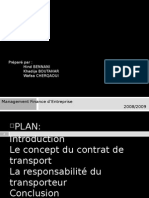 Contrat de Transport