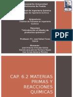 cap 6.2 Materias Primas y reacciones químicas