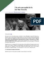 Cele 10 Reguli În Arta Succesului de La Strategul Militar Sun Tz1