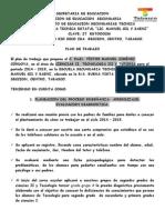 Plan de Trabajo 2014 - 2015