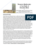 threats to biodiversity case study