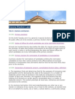 Arizona Election Laws