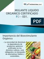 Bioestimulante Organico Liquido Certificado Fo - e01 Presentacion