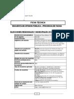 Encuesta de Opinion Pública - Octubre Del 2014