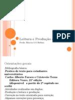 Leitura e Produção de Textos Aula 1AB