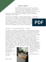 Film Studies - Location Report